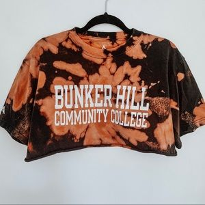 Bunker Hill Community College Bleached Tie Dye Top